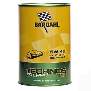 Picture of Моторное масло Bardahl Technos C60 5W40 Exceed 1 л.